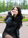 Girl Calling By Phone. Royalty Free Stock Photos - 24751888