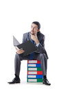 Businessman With Many Folders Royalty Free Stock Images - 24759239