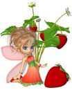 Cute Toon Strawberry Fairy Stock Photography - 24767682