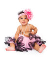 Baby Wearing Headband And Tutu Royalty Free Stock Photos - 24775278