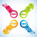 Set Of Colorful Labels With Arrows. Royalty Free Stock Photo - 24777935