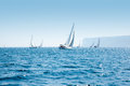 Boats Sail Regatta With Sailboats In Mediterranean Stock Images - 24781794