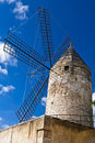 Traditional Windmill In Palma De Majorca, Spain. Royalty Free Stock Photography - 24788987