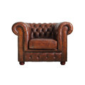Classic Brown Leather Armchair. Royalty Free Stock Photos - 24790188