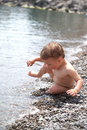 Baby In The Sea Royalty Free Stock Photos - 24794458