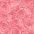 Vector Pink Wedding Floral Grunge Seamless Pattern Royalty Free Stock Photo - 24797635
