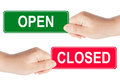 Open And Closed Sign Royalty Free Stock Photos - 24799178