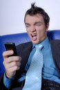 Angry Businessman To Phone Stock Images - 2487294