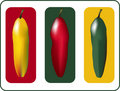 Three Peppers Royalty Free Stock Image - 2489206