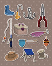 Fishing Stickers Royalty Free Stock Photography - 24800237