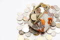 Coins In Purse Stock Photo - 24800370