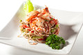 Japanese Cuisine - Hot Noodles With Seafood Royalty Free Stock Photos - 24803168