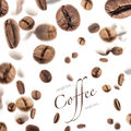 Flying Coffee Beans Stock Photography - 24811662