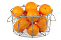 Oranges In A Basket Stock Images - 24812024