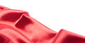Red Silk Fabric Over White Background Royalty Free Stock Photos - 24812888