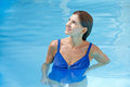 Elderly Woman In Swimming Pool Stock Images - 24820904