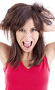 Portret Of Screaming Woman Royalty Free Stock Images - 24825959