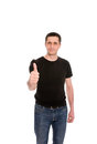 Man In The Black T-shirt Stock Image - 24826811
