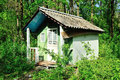 Dilapidated Old Small House Royalty Free Stock Photo - 24827775