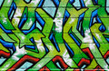 Wall Covered In Colorful Graffiti Royalty Free Stock Images - 24830319