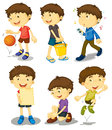 Boy In Five Poses Royalty Free Stock Images - 24833349