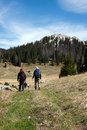 Two Mountaineers Go Hiking On The Mountains Stock Photography - 24839422