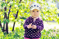 Baby In The Garden Royalty Free Stock Photography - 24842067