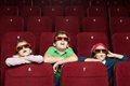 Surprised Children At The Cinema Stock Image - 24842541