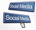 Two Social Media Buttons Royalty Free Stock Photo - 24844405