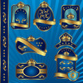 Blue Royal Labels Blank Royalty Free Stock Images - 24845979
