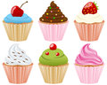 Sweet Cupcakes Collection Royalty Free Stock Photo - 24847835