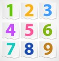 Colorful Torn Papers Numbers Stock Photography - 24848292