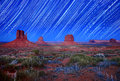 Daylight And Star Trail Image Of Monument Valley Stock Photos - 24852233
