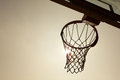 Silhouette Of Basketball Basket Royalty Free Stock Photo - 24861425
