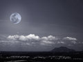 Moon And Mountains Royalty Free Stock Image - 24861486