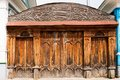 Old Wooden Ornate Gate Royalty Free Stock Image - 24867046