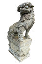 A Chinese Lion Statue Isolated Stock Images - 24879904
