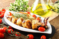 Squid Stuffed With Bread Crumbs And Tomatoes Stock Photography - 24890592