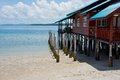 House On Stilts At The Tropical Beach Stock Images - 24898814