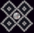 Pearls Inlaid Ornament In Rhomb. Royalty Free Stock Photo - 24902995