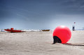 Red Buoy Royalty Free Stock Images - 24907909