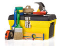 Set Of Tools And Instruments In Box Stock Image - 24916701