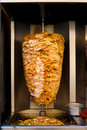 Arabic Chicken Spit Cooking Shawarma Meat Royalty Free Stock Photos - 24925318