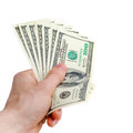 Hand With Dollars Stock Photo - 24927010