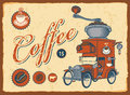 Car With Coffee Grinder Stock Image - 24928301