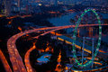 Aerial View On Singapore Flyer Royalty Free Stock Images - 24928419