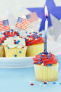 Independence Day Cupcakes Stock Photo - 24941480