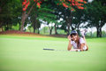 Woman Laying On The Green Grass Stock Photography - 24980702
