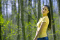 Pretty Girl Modeling In Forest Royalty Free Stock Photos - 2506138