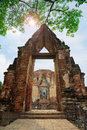 Wat Ratchaburana Temple, Ayutthaya Stock Photos - 25002923